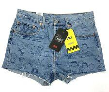NWT Premium Levis X Peanuts 501 High Rise Frayed Hem Shorts Women's Size 31