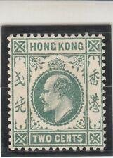 Hong Kong 1903. Edward VII - 2 Cent. Green. MNH