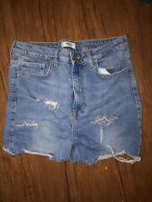 Forever 21 Size 27 Hi Rise Blue Jeans Shorts