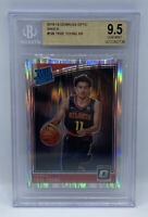 2018-19 Optic Silver Prizm Shock #198 Trae Young RC Rookie BGS 9.5 GEM MINT