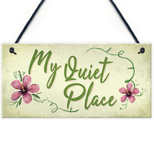Quiet Place Garden Sign Shed SummerHouse Plaque MUM NAN Women Gifts For Her