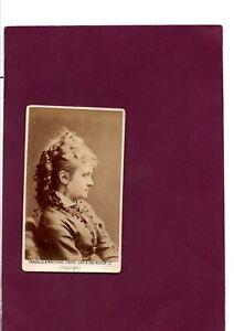 CDV Victorian Photograph of Opera & Singing Actress Emma Chambers London C.1880