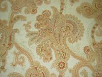 ~4 YDS~ANTIQUE FLORAL~PART CHENILLE~EMBROIDERED UPHOLSTERY FABRIC FOR LESS~