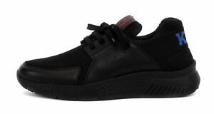 KITON KNT SNEAKERS SHOES +1 special cashmere leather black Italy uk 10 us 11