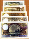 Hejas, Kingdom, Faux Set (Reproduction) 1;5;10;50;100 Arabian Pounds, 1924, UNC