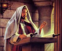 Dream-art Oil painting portrait Christ Jesus Sermon canvas hand painted in oil