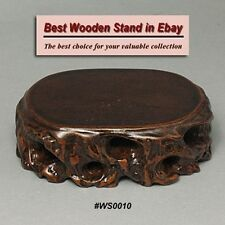 Wood Stand For Figurine, Netsuke Carving Display WS0010