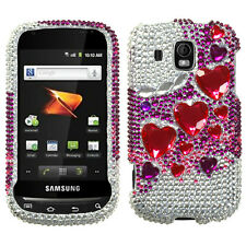 For Samsung Transform Ultra M930 Diamond BLING Case Phone Cover Stylish Hearts
