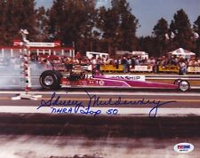 Shirley Muldowney SIGNED 8x10 Photo + NHRA Top 50 PSA/DNA AUTOGRAPHED