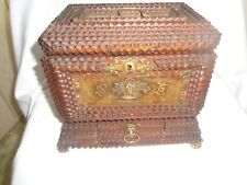 Vintage Tramp Art Jewelry Box With Drawer