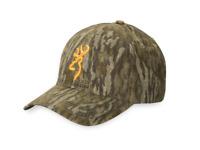 BROWNING RIMFIRE MOSSY OAK BOTTOMLAND Camo HAT Buckmark Logo! New!