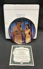 "DISNEY Bradford Exchange Pocahontas ""FATHER'S LOVE"" Plate Five + COA 5063B"