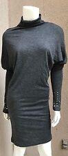 NWT Stile Benetton Woman Dress SZ S Gray Kimono Sleeves Turtle Neck