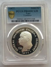 Togo 1977 General Eyadema 5000 Francs PCGS PR68 Silver Coin,Proof