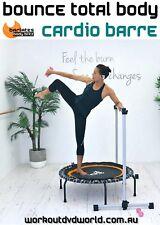 Rebounder Trampoline DVD Barlates Body Blitz BOUNCE TOTAL BODY Cardio Barre