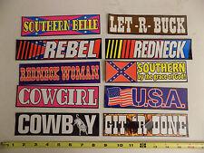 Country Western Bumper Stickers Lot of 10 Cowboy Cowgirl Redneck Rebel Southern