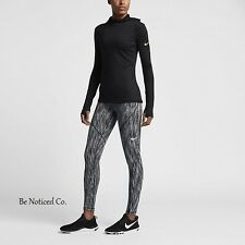 Nike Pro Hyperwarm Women's Training Tights M Black Gray White Gym Training New