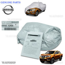 Genuine Silver Polyester Car Cover Fit Nissan Navara Np300 4Dr D23 2015 2016