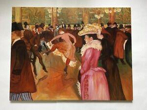 At the Moulin Rouge The Dance Henri de Toulouse-Lautrec Canvas Art Print Repro