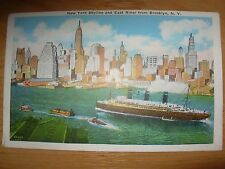 VINTAGE POSTCARD U.S.A.- NEW YORK SKYLINE & EAST RIVER - NEW YORK CITY Ref 2115
