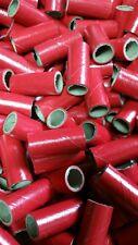 "25 Fireworks M80 Kraft Gloss Red PYRO Cardboard TUBES 9/16"" x 1-1/2"" x 1/16"""