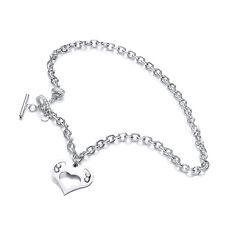 J Jaz Lola Swarovski Flotante Cristales Corazón de plata de ley