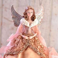 Rose Gold Angel Resin 9 Inch Christmas Ornament Kurt Adler NEW N01