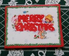 New ListingVintage Strawberry Shortcake Christmas Card Huckleberry Pie Pupcake Freeship20