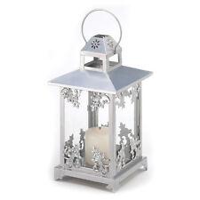 New Lantern Silver Scrollwork Candle Holder Delicate Elegant Design