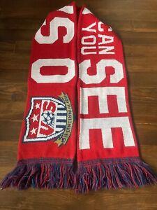 US USA vs Costa Rica Denver Soccer Scarf Muffler Famous Snow Classic 2013