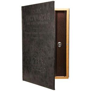 Barska Beautiful Large Hidden Antique Book Lock Box Safe, with Key Lock, CB11992