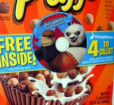 Kung Fu Panda Awesome Adventures DVD Sampler Reese's Puffs Cereal 2013 NeW!