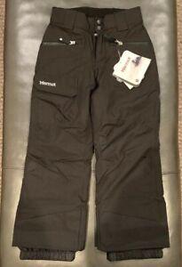 NWTs Marmot Girl's Freerider Insulated Ski Pants. Small (6/7). Black (MSRP $110)