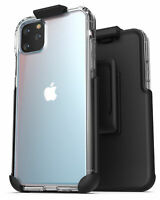 For iPhone 11 / Pro Max Belt Clip Case Ultra Slim Clear Back Cover with Holster