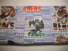 Vintage 80s NFL Blanket 72X82 Jack Davis Mad Magazine Art Caricature Raiders Bea