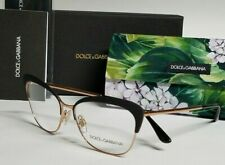 New Authentic DOLCE & GABBANA DG1298 01 Matte Black Rose Gold 54/16/140