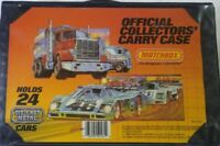 1983-MATCHBOX-SUPERFAST-24-MODEL-COLLECTORS-CARRY-CASE-W-2-BLUE-PLASTIC-TRAY