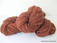 Organic Natural Real Oak Colour, Hand Spun Pure Handmade Wool,  Hand Painted