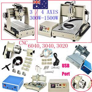 USB/DESKTOP 3/4AXIS 300W-1500W CNC 6040 3040 ROUTER ENGRAVER MILLING MACHINE AU