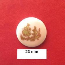 LIMOGES 1 PLAQUE PORCELAINE LIMOGES 23 mm FOND ROSE FRAGONARD