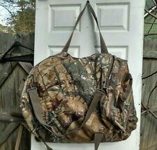 Fieldline Duffle Bag Shoulder Strap Hunting Camo Gear Carrier Brown Gray