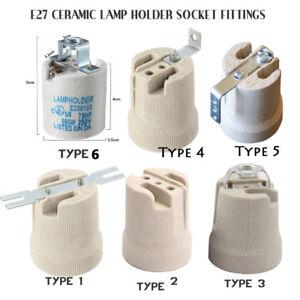 E27 Ceramic Socket Edison Screw Bulb Holder Lamp Base Bracket for Heat Lamp Bulb