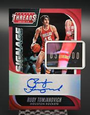 2018-19 Rudy Tomjanovich #/200 Signage Auto Panini Threads Houston Rockets