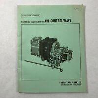 1969 Wabco Manual Freight Brake Equipment With ABD Control Valve Locomotive