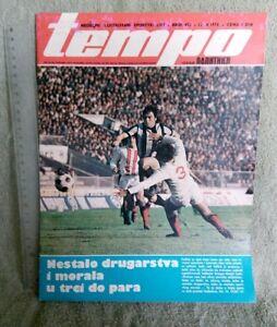 FOOTBALL DZAJIC ZIZIC Sekularac Rozi 1974 TEMPO sport Magazine Yugoslavia SOCCER