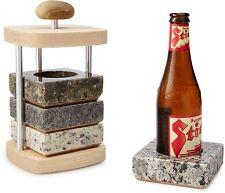 Chilling Coaster Set Beer Soda Granite Stone Set of 4 Chillable Drink Holder