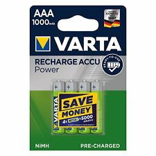 4 accus/piles rechargeable AAA/LR3 HR03 1000mAh 1,2V Varta