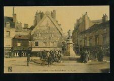 France Burgundy DIJON Place Francois-Rude Pharmacie Bruant c1900s? PPC
