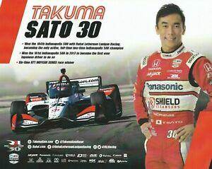 2021 TAKUMA SATO GRAHAM RAHAL INDIANAPOLIS 500 HERO PHOTO CARD POSTCARD INDY CAR