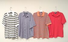 Lot of 4 Ralph Lauren Men's Polo Shirts Size XXL S/S Orange Red Blue Pony 2XL